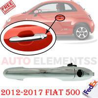 Front Left Driver Side Exterior Door Handle Chrome For 2012-2017 Fiat 500