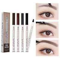 HOT 3D Microblading Tattoo Eyebrow Ink Fork Tip Pen Eye Brow Makeup Pencil Pen