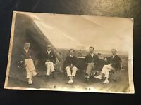 Vintage Postcard Real Photograph Social History. Young Upperclass Gentlemen