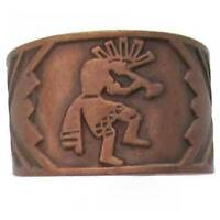 Solid Copper Ring Kokopelli Southwest  Handmade Western Jewelry Arthritis Band