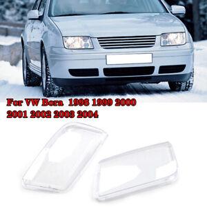 FOR 99-05 VW JETTA BORA MK4 HELIX REPLACEMENT HEADLIGHT LAMP LENSES - PAIR