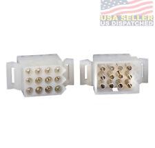 "Molex (12 Circuits) Connector Lot , 1 Matched Sets, w/14-20 AWG .093"" Pins"