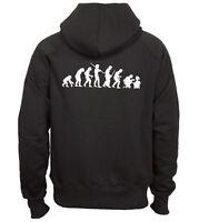 Sweat shirt noir à capuche homme zippé FRUIT OF THE LOOM EVOLUTION GEEK