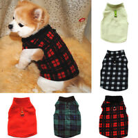 Warm Pet Dog Clothes Fleece Winter Puppy Coats Chihuahua Buckle Jacket Clothing