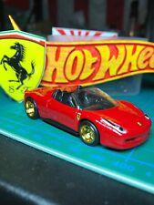 🔴2012 HOT WHEELS Custom FERRARI 458 SPIDER With Real Riders