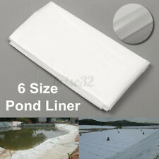 2m/6.5ft White Fish Pond Liner Garden Pool HDPE Membrane Reinforced