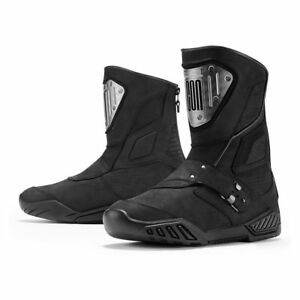 Icon 1000 Mens Black Retrograde Motorcycle Boots