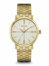 Bulova Men's 97B152 Classic Yellow Gold Stainless Steel Dress Watch