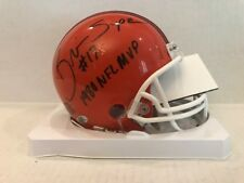 Brian Sipe Signed Cleveland Browns Throwback mini helmet COA Holo NFL MVP 1980