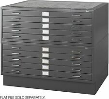 Safco Products Flat File Closed Base for 5-Drawer 4996BLR and 10 Drawer 4986BL