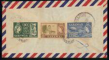 Mayfairstamps Sarawak 1960 Tri Franked Airmail Cover wwf47559