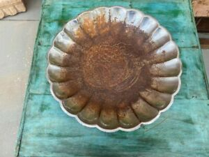 Ancient Rare Old Original Iron Shell Shape Banana Grapes Fruits Serving Plate