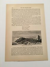 T5) Ledge of Rocks Smuttynose Island Isle of Shoals Maine c.1875 Engraving