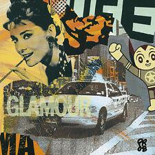 Paul Raynal: Glamour Film Collage Pop Fertig-Bild 30x30 Wandbild