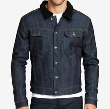 Brand New- William Rast Mens Fleece Denim Jacket Size Medium