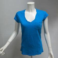 DEHA t-shirt donna manica corta scollo V art.B02332 col.AZZURRO tg.L estate 2013