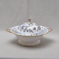 Meissen Vogelmodell kobaltblau & gold, Deckelterrine Schüssel, um 1860, 1.Wahl