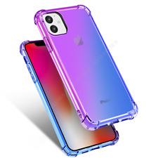 For iPhone 11/11 Pro Max Shockproof Silicone Gradient Color Soft Back Case Cover