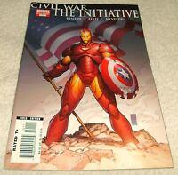 MARVEL COMICS CIVIL WAR THE INTIATIVE # 1 VF+ CIVIL WAR TIE-IN