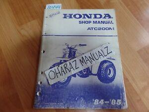 1984 1985 HONDA ATC200M Service Manual OEM