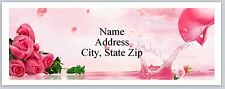 30 Personalized Address Labels Beautiful Pink Roses Buy 3 Get 1 free (P 312)