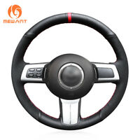 Hand Stitched Black Suede Leather Steering Wheel Cover for Mazda MX-5 RX-8 CX-7