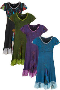 New Boho Style Summer Dress With Patchwork and Lace Design up to PLUS SIZE