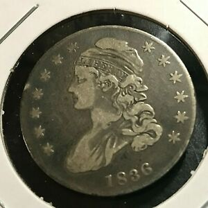 1836 CAPPED BUST SILVER HALF DOLLAR NICE COIN