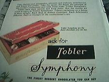 newspaper folded advert 1956 tobler symphony chocolates