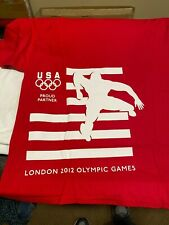 COCA COLA HANES 2012 LONDON OLYMPIC TRACK AND FIELD XL T-SHIRT  NEW