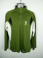 MENS SUNICE VANCOUVER 2010 GREEN/WHITE 1/2 ZIP UP ATHLETIC JACKET SIZE L LARGE