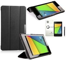GENUINE INVENTCASE NEXUS 7 FHD 2  2013 BLACK LEATHER SMART CASE COVER STAND