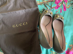 Gucci  Malaga Kid Grey Field Heels In Size 40,5( NEW BOXED)RPR:£420