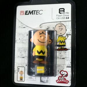NEW Emtec 3D Peanuts Snoopy Charlie Brown Character 8GB USB 2.0 Flash Drive New