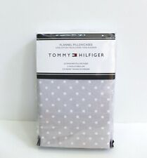 Tommy Hilfiger 2-Pack Polka Dot Flannel Pillowcases Size Standard - Gray