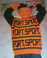 Original Machine Knitting with Style Pattern Child's DK Sport Sweater No 0892M