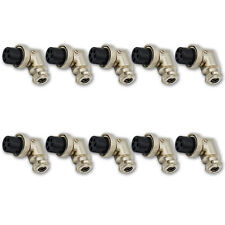 Aviation 5 Pin Female Right Angle Connector Adapter Plug Ham MIC Radio 10PACKS