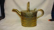Antique Joseph Sankey & Sons Brass Watering Can - Crocodile Skin Design - Size 3