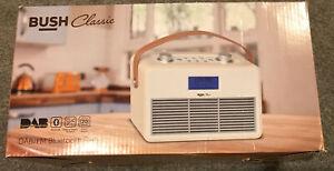 Bush Classic DAB / FM Bluetooth Radio Cream - NEW & BOXED (some Damage To Box)
