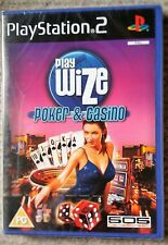 PLAYWIZE POKER & CASINO PS2 GAME brand new & SONY sealed RARE UK PLAYSTATION 2