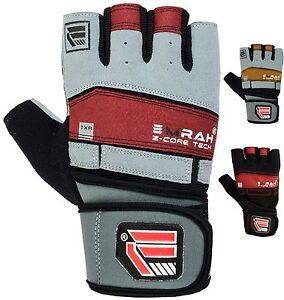EMRAH Weight Lifting Gloves Training Gym BodyBuilding Fitness Workout Straps L9R