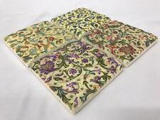 S/4 Victorian Vintage Antique Céramique Boissons Table Tapis Carrelage Coasters Ensemble Cadeau