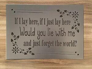 Love Quote Stencil  Romantic Template Shabby Chic Reusable Wall Craft Decor