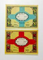 PAPENBURG NOTGELD 50, 75 PFENNIG 1921 EMERGENCY MONEY GERMANY BANKNOTES (14281)