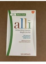 Alli Refill AUTHENTIC Weight Loss Pill 60mg Pack ~ 120ct Capsule Sealed 2/21