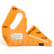 Big Horn 19105 Router Table Saw Push Block /Blade Depth & Angle Gauge, Hook Rule