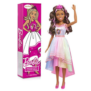 Barbie 28-inch Best Unicorn Party Fashion Friend Doll Brown Hair Just Play