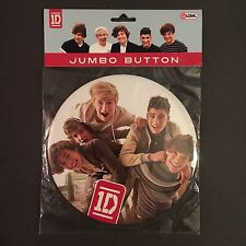 """really big ONE DIRECTION 1D jumbo button pin--6""""--CUTE BOY BAND-licensed-NEW NIP"""