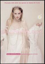 cartolina pubblicitaria PROMOCARD n.1649 ALLAFOLLIA.COM MATRIMONIO MILANO