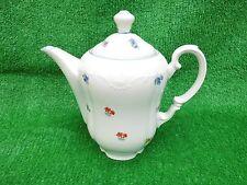 Große Vintage Kaffekanne Tee Kanne 1,75 L Blumen Design P.C. Bavaria Krone